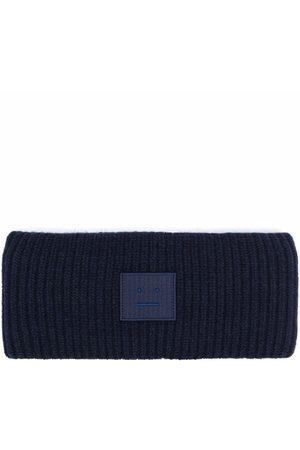 Acne Studios Kvinder Pandebånd - Ribbed-knit logo patch headband