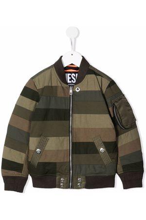 Diesel Bomberjakker - Striped Patchwork bomber jacket