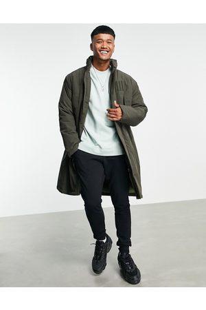 ASOS Mænd Parkajakker - Parka-jakke med ståkrave i kaki-Grøn