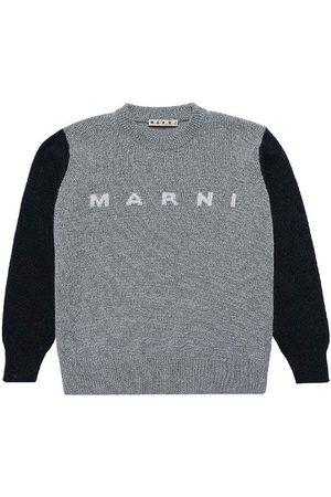 Marni Bluser - Bluse - Uld - Gråmeleret/Navy