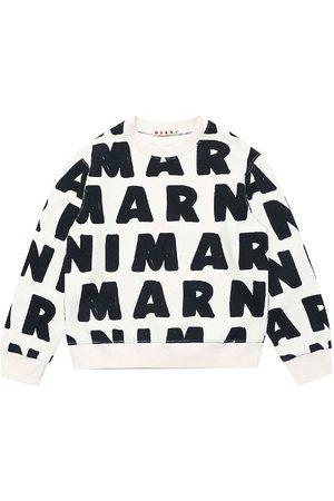 Marni Sweatshirts - Sweatshirt - Off-White m. AOP Logo