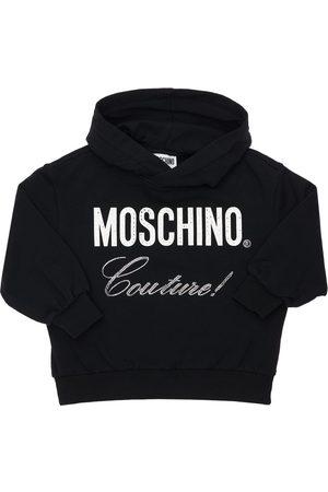 MOSCHINO Logo Print Cotton Sweatshirt