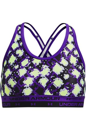 Under Armour Girls' UA Crossback Printed Sports Bra