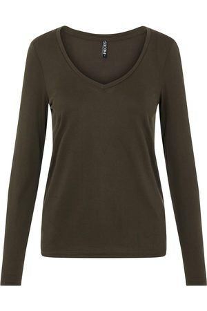 Pieces Kvinder Langærmede skjorter - Shirts 'Kamala