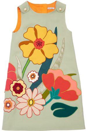 Dolce & Gabbana Piger Kjoler - Floral Embroidered Viscose Blend Dress