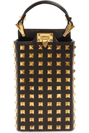VALENTINO GARAVANI Kvinder Mobil Covers - Rockstud Alcove Leather Smartphone Case