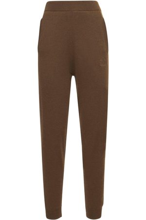 Max Mara Kvinder Joggingbukser - Wool & Cashmere Knit Sweatpants