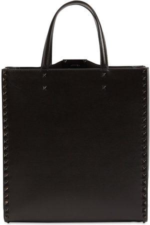VALENTINO GARAVANI Ruthenio Studs Leather Tote Bag