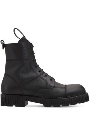 Dolce & Gabbana Bernini Leather Combat Boots