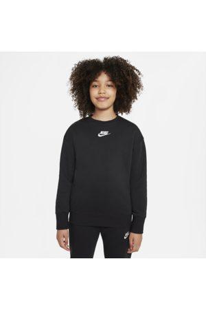 Nike Piger Træningstrøjer - Sportswear Club Fleece-sweatshirt med rund hals til større børn (piger)