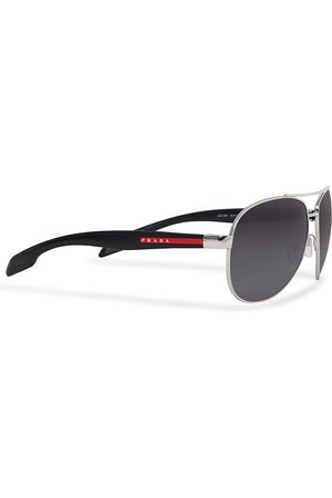 Prada Linea Rossa Mænd Solbriller - 0PS 53PS Polarized Sunglasses Silver