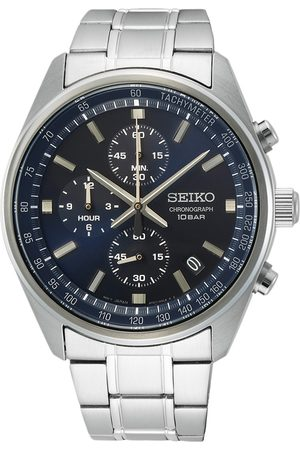 Seiko Mænd Ure - Chronograph 42mm Steel Blue Dial