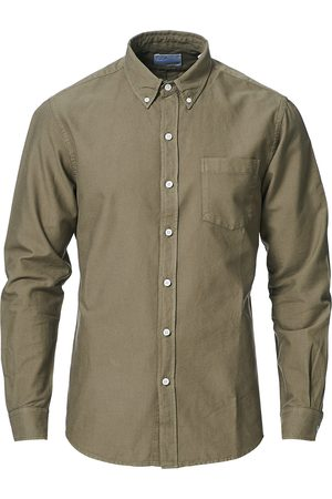 Colorful Standard Mænd Business skjorter - Classic Organic Oxford Button Down Shirt Dusty Olive