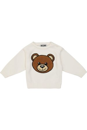 Moschino Baby logo stretch-cotton sweatshirt