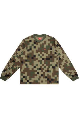 Supreme Langærmede - Langærmet T-shirt med kasseformet logo