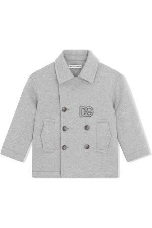 Dolce & Gabbana Drenge Trenchcoats - Dobbeltradet trenchcoat med logomærke