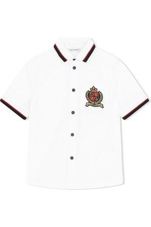 Dolce & Gabbana Drenge Kortærmede skjorter - Kortærmet skjorte med logomærke