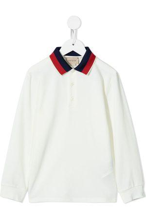 Gucci Drenge Poloer - Contrasting-collar polo shirt