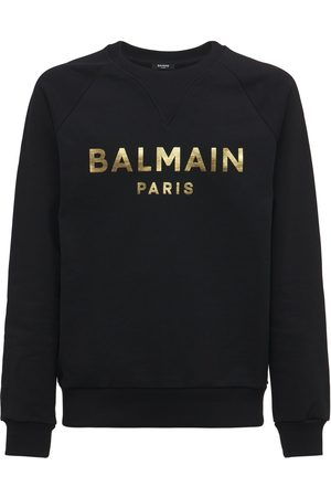 Balmain Mænd Sweatshirts - Logo Cotton Jersey Sweatshirt