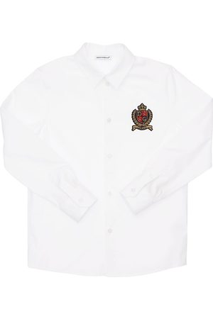 Dolce & Gabbana Mænd Business skjorter - Logo Stretch Cotton Poplin Shirt