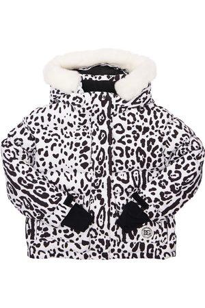 Dolce & Gabbana Piger Vinterjakker - Nylon Ski Down Jacket W/ Fur Collar