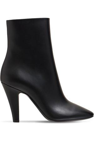 Saint Laurent Kvinder Ankelstøvler - 95mm 68 Leather Ankle Boots