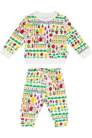Stella McCartney Joggingbukser - Baby cotton-jersey sweater and pants set