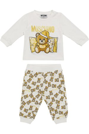 Moschino Baby cotton jersey T-shirt and sweatpants set