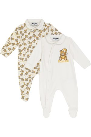 Moschino Baby set of 2 stretch-cotton jersey onesies