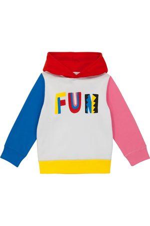 Stella McCartney Piger Sweatshirts - Printed cotton-jersey hoodie
