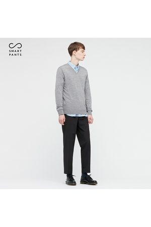 UNIQLO Men Smart Stretch Ankle Length Trousers