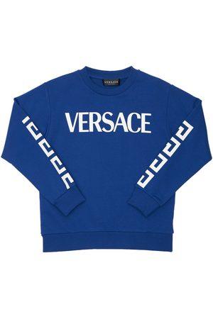 VERSACE Drenge Sweatshirts - Printed Cotton Sweatshirt