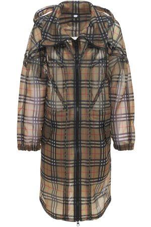 Burberry Kvinder Parkajakker - Cowbit Nylon Check Hooded Parka Coat