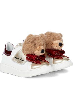 MONNALISA Embellished leather sneakers
