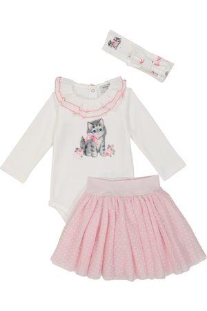 MONNALISA Babysæt - Baby cotton onesie, skirt and headband set