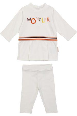 Moncler Baby cotton T-shirt and leggings set