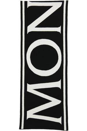 Moncler Piger Tørklæder - Logo wool scarf