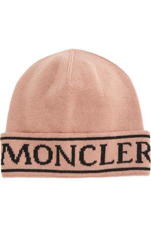 Moncler Piger Huer - Logo wool beanie