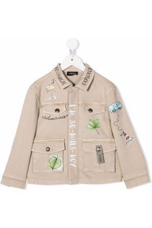MONNALISA Drenge Cowboyjakker - Leaf-print jacket