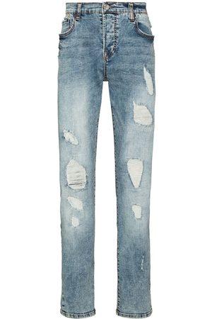True Religion Mænd Slim - Distressed ripped slim-fit jeans