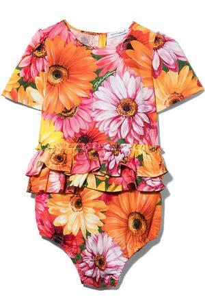 Dolce & Gabbana Kids Piger Jumpsuits - DG BABY GIRL AIO W SS IN FLRL PRNT W FRL