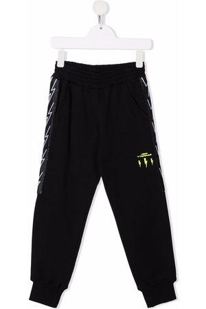 Neil Barrett Drenge Bukser - Bukser i bomuld med logotryk