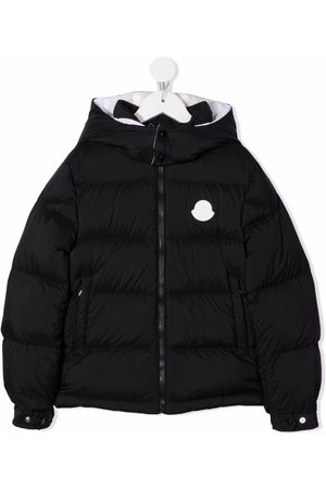 Moncler Piger Outdoorjakker - Logo-print padded jacket