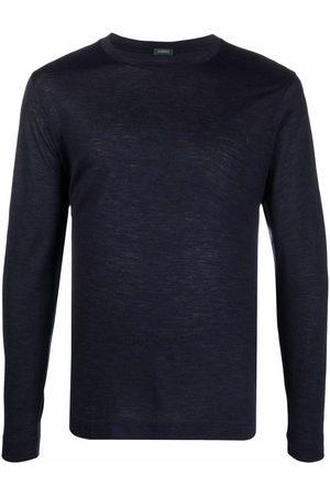 ZANONE Mænd Langærmede - Round neck long-sleeved T-shirt