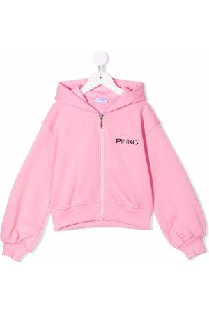 Pinko Kids Piger Hoodies - Hættetrøje med logotryk