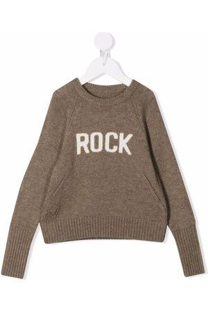 Zadig & Voltaire Piger Strik - Rock ribbet intarsia-trøje med logo