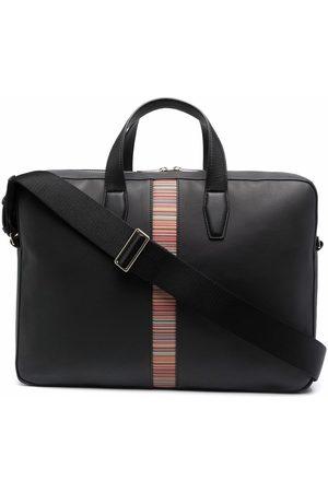 Paul Smith Mænd Laptop Tasker - Logo-tape leather tote bag