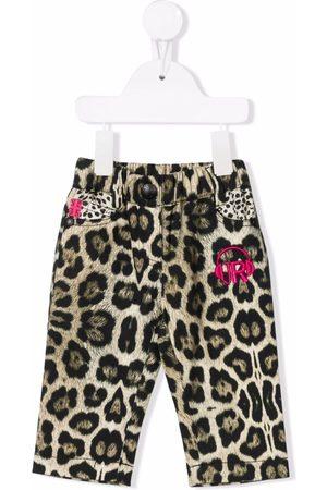John Richmond Junior Baby Jeans - Leopard-print jeans
