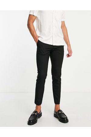 Burton Menswear Mænd Chinos - Burton - Sorte bukser i genanvendt polyester i super skinny fit