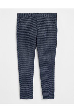 ASOS Mænd Chinos - Marineblå, elegante bukser med smal pasform og elastisk linning